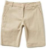 "Nautica Big Girls 7-16 9"" Twill Shorts"