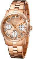 JBW Women's Women's Alessandra Gold-Plated Quartz Chronograph Watch