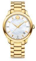 Movado Bellina Goldtone PVD Stainless Steel Bracelet Watch