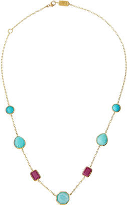 Ippolita 18K Rock Candy 5-Stone Necklace in Caribbean Blue