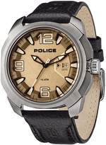 Police PL-13836JS-61 Men's Texas Gunmetal Dial Leather Strap Steel Watch