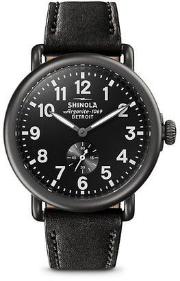 Shinola Leather Strap Watch