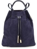 Halston Leather & Suede Drawstring Backpack