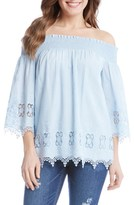 Karen Kane Women's Off The Shoulder Lace Top