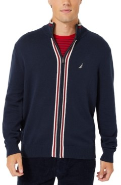 Nautica Men's Active Trim Full-Zip Sweater