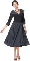 Jessica Howard Portrait Collar A-Line Dress