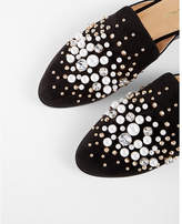 Express pearl studded slide loafers