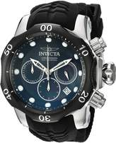 Invicta Men's 'Venom' Quartz Stainless Steel and Silicone Casual Watch, Color: (Model: 22357)