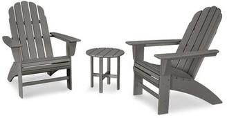 Polywood Vineyard 3 Piece Seating Group Color: Slate Gray