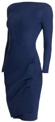 Chiara Boni Cassandre Wrap Effect Boatneck Dress