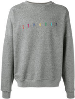 Gosha Rubchinskiy embroidered sweatshirt - men - Cotton - S