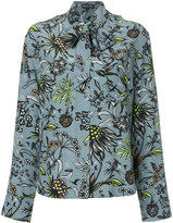 Markus Lupfer floral print pussy bow blouse