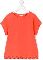 Chloé Kids - teen scalloped hem top - kids - Cotton/Spandex/Elastane - 14 yrs