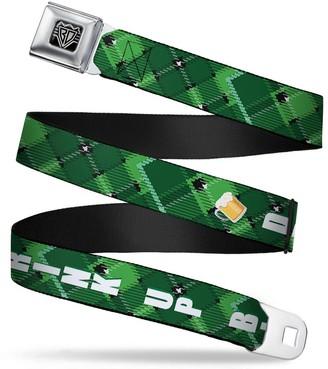 Buckle Down Buckle-Down Unisex-Adults Seatbelt Belt St. Pats XL