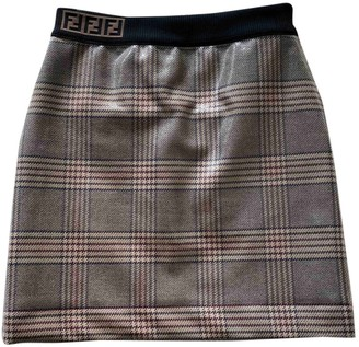 Fendi Beige Tweed Skirt for Women