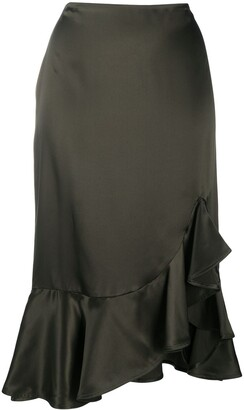 Tom Ford Ruffled Midi Skirt