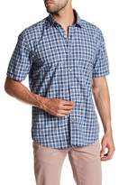 James Campbell Esse Plaid Short Sleeve Regular Fit Shirt