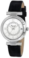 Kenneth Cole New York Women's KC2746 Classic Round Silver Dial Black Watch