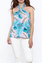 Tyche Floral Halter Blouse