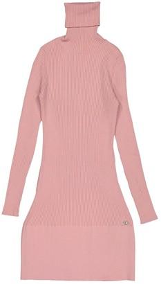 Chanel Pink Wool Dresses