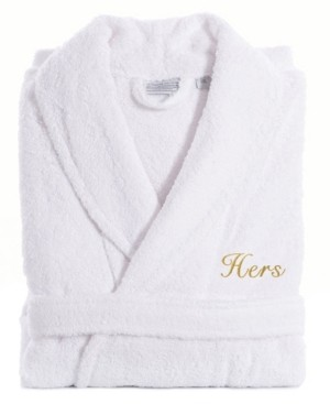 Linum Home Turkish Cotton Embroidered Hers Terry Bathrobe Bedding
