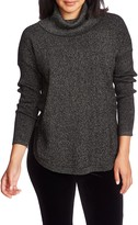 Chaus Cowl Neck Shirttail Hem Sweater