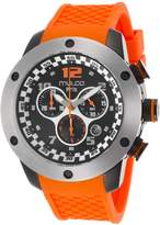 Mulco Mw26313085 Men's Prix Chronograph Orange Silicone Black Dial Watch