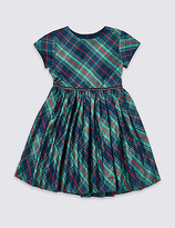 Marks and Spencer Short Sleeve Checked Dress (1-10 Years)