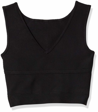BCBGMAXAZRIA Women's Cropped Sleeveless Pullover Sweater