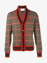 Gucci Check Wool Cashmere-blend Cardigan
