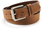Columbia Men's Bridle Double-Stitched Brown Leather Belt