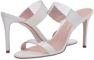 Schutz Adinna (White/Transparent) Women's Shoes