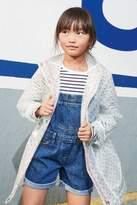 Next Girls Denim Mid Blue Dungaree Shorts (3-16yrs) - Blue