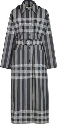Fendi Check-Print Midi Coat