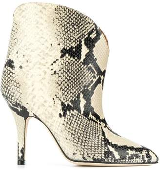 Paris Texas snakeskin print ankle boots