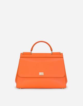 Dolce & Gabbana Medium Calfskin Sicily Soft Bag