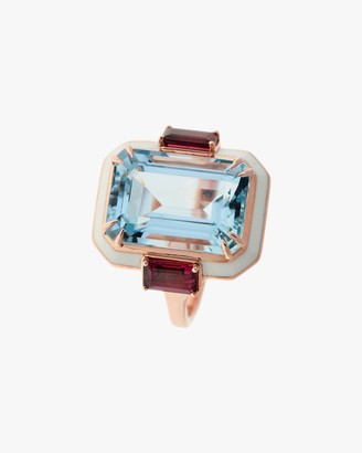 Selim Mouzannar One-of-a-Kind Tourmaline Aquamarine Ring