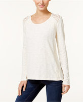 Style&Co. Style & Co. Lace-Trim Top, Only at Macy's