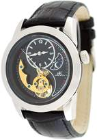 Adee Kaye #AK8025-M1 Men's 3-D Layer Sun Moon Partial Skeleton Automatic Watch