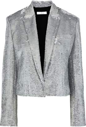 IRO Napli Cropped Sequined Cotton Blazer