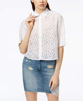 Love Moschino Lace Contrast Shirt