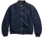 Ralph Lauren Indigo Cotton Bomber Jacket