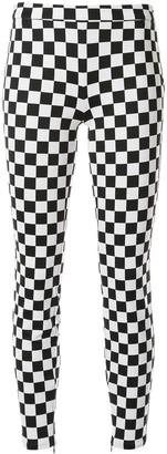 Moschino check print skinny trousers