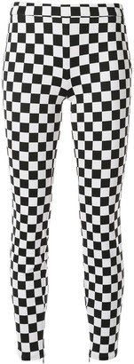 Boutique Moschino Check Print Skinny Trousers