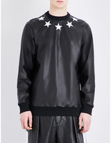 Givenchy Star-appliqué Leather Sweatshirt
