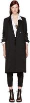 Ann Demeulemeester Black Stripe Coat