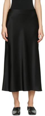 Nanushka Black Satin Razi Skirt