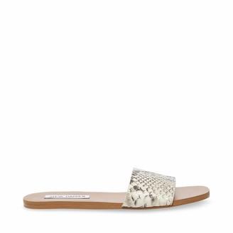 Steve Madden Womens Nikini Gold Snake Sandal 8 US