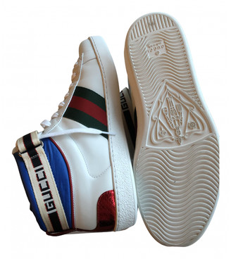 Gucci Ace White Leather Trainers