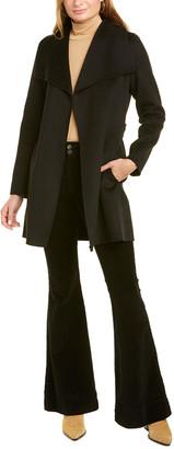 Tahari Ella Wool-Blend Wrap Coat